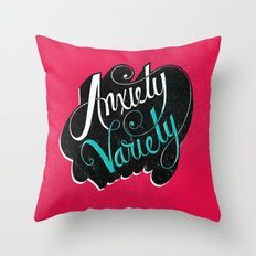 Anxiety Variety Throw Pillow