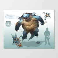 Pokemon-Blastoise Canvas Print