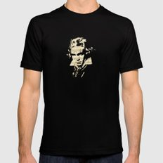Beethoven - German Composer Black SMALL Mens Fitted Tee