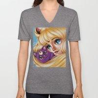 Sailor Moon and Luna Unisex V-Neck