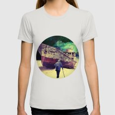 Ship Womens Fitted Tee Silver SMALL