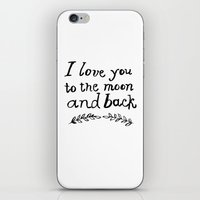 To The Moon And Back- Wh… iPhone & iPod Skin
