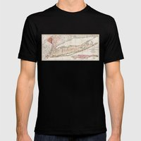 1842 Mather Map Of Long … Mens Fitted Tee Black SMALL