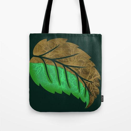 Drying Leaf Tote Bag
