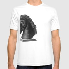 horse no.4 White Mens Fitted Tee SMALL