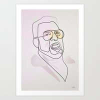 One Line Big Lebowski: W… Art Print