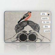 she wants to see the world Laptop & iPad Skin