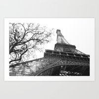 Art Print featuring eiffel tower by sandra lee russell