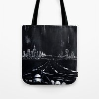 San Francisco Nightdrive Tote Bag