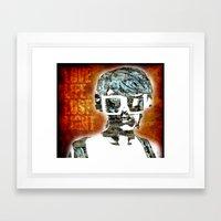 Love Life Lust Light Framed Art Print