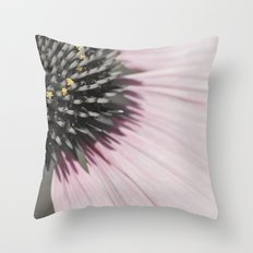 Pink and Gray Throw Pillow