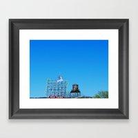 Portland Sky Framed Art Print