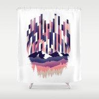 Sunrise in Vertical - Winter Purple Shower Curtain