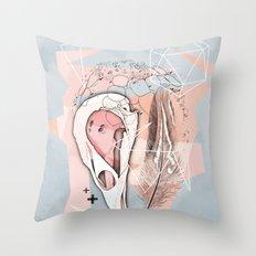 Feather Box V2 Throw Pillow