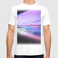 Night Light 66 Mens Fitted Tee White SMALL