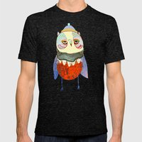 Owl Chick Mens Fitted Tee Tri-Black SMALL