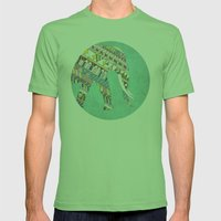 Mosaic Elephant Mens Fitted Tee Grass SMALL