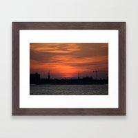 Holy City Sunset Framed Art Print