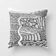Zentangle Fields Of Drea… Throw Pillow