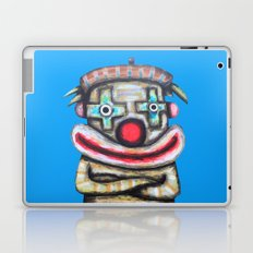 Clown with small advertisement Laptop & iPad Skin
