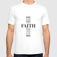 Faith Mens Fitted Tee White SMALL