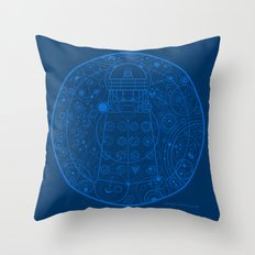 Sign of the Dalek Throw Pillow