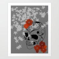 sugar skull Art Prints featuring Sugar Skull by Tanya Thomas