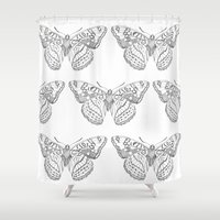 Butterfly dots Shower Curtain