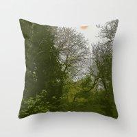 FOX IN A COOL GREEN WORLD Throw Pillow