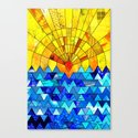 Sun & Sea Collage Canvas Print