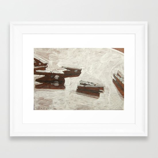 From daily paintings series Framed Art Print