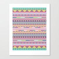 Geometric Pastel Pattern Canvas Print