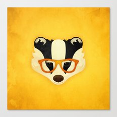 Hipster Badger: Gold Canvas Print