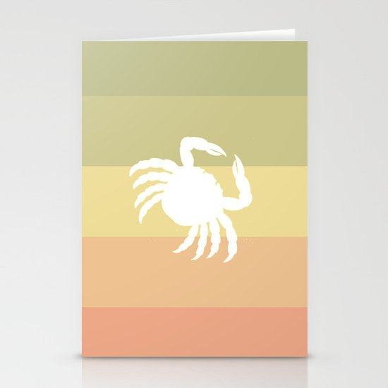 Out At Sea Series - Sideways and Crabby Stationery Card
