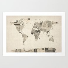 Map Of The World Map Fro… Art Print