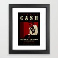 Cash Live At Folsom Pris… Framed Art Print