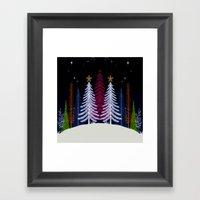 Magic Winter Night Framed Art Print