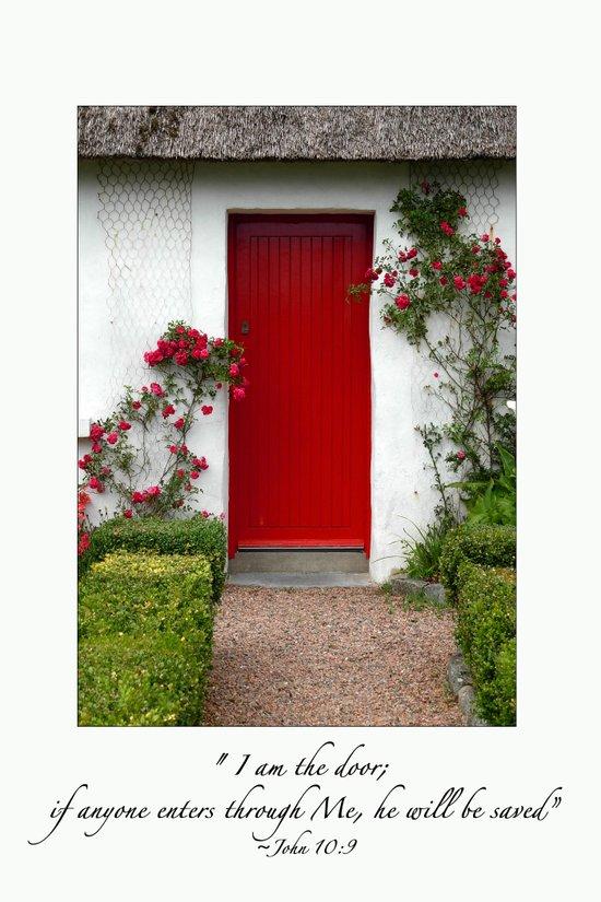 I Am The Door  (Red Door) Ireland Art Print