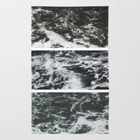 Saltwater Trytych Var II - blacks Rug