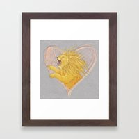 Lionheart Framed Art Print