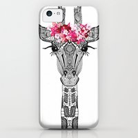 iPhone 5c Cases featuring FLOWER GIRL by Monika Strigel