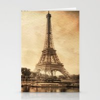 Vintage Eiffel Tower 2 Stationery Cards