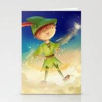 peter pan Stationery Cards featuring Peter Pan by CodiBear