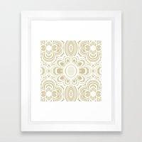 Lace Floral Ivory Sand (… Framed Art Print
