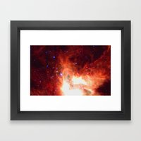 Burning Star Framed Art Print