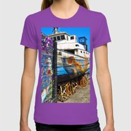 Old Sicilian Port Of Alc… Womens Fitted Tee Ultraviolet SMALL