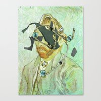 In Vincent´s Face · 3 Canvas Print