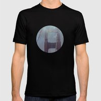 Starry San Francisco Mens Fitted Tee Black SMALL