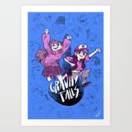 Gravity Falls Art Print