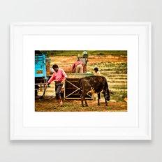 Off Work Framed Art Print